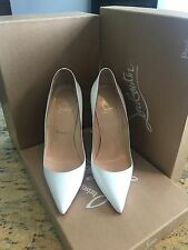 Christian Louboutin So Kate Patent White 38