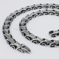 "316L Stainless Steel 18"" ~ 36"" Dragon Chain Mens Biker Rocker Necklace 5A001ND"