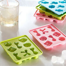 Silicone Knot Bow Button Shaped Ice Cube Shot Glass Freeze Mold Maker Tray