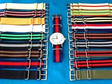 MoD OUTLINED REGULATION MILITARY G-10 WATCH BANDS, 16-18-20-22-24 MM SIZES
