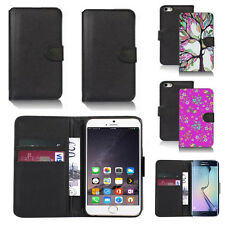 black pu leather wallet case cover for many mobiles design ref q423