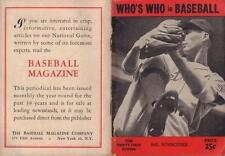 RARE 1946 WHO'S WHO IN BASEBALL 31st EDITION HAL NEWHOUSER COVER VERY GOOD COND