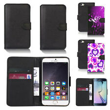 black pu leather wallet case cover for apple iphone models design ref q396