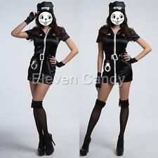 Sexy Lady Police Cop Officer Uniform Woman Halloween Costume Cosplay Fancy Dress