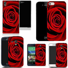 motif case cover for various Popular Mobile phones  -red rose