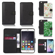 pu leather wallet case cover for apple iphone models design ref q168