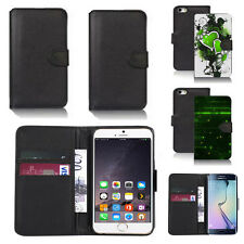 pu leather wallet case cover for apple iphone models design ref q174
