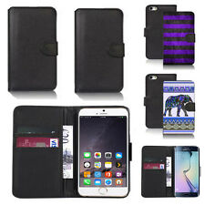 black pu leather wallet case cover for many mobiles design ref q727