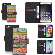 pu leather wallet case for many Mobile phones - elephant pattern