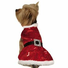 Mrs. Santa Claus Sequin Dog Dress by Zack and Zoey