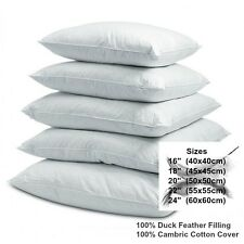 "Cushion Pads Inserts Fillers Duck Feather Inners 16"" 18"" 20"" 22"" 24"" Square"