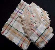 VINTAGE SUMMER PLAID BASKET WOVEN COTTON 8 NAPKINS W/RUNNER, MINT, NEVER USED!