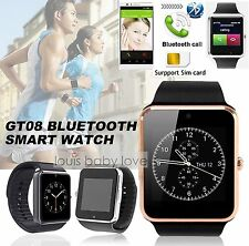 GT08 Bluetooth Touch Smart Wrist Watch Phone Mate For Android IOS iPhone Samsung