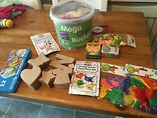 MEGA Clearout Bundle Kids Crafty bits Foam Stickers etc...craft Bucket Boxes
