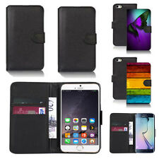 black pu leather wallet case cover for many mobiles design ref q417