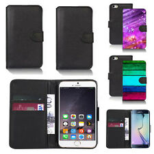 black pu leather wallet case cover for many mobiles design ref q419