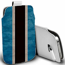 pu leather pull tab pouch case for various Mobiles - stipple pouch