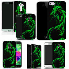 pictoral case cover for most Popular Mobile phones - green dragon