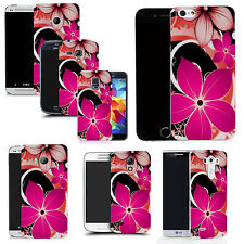 gel case cover for many mobiles - pink hybrid flower silicone