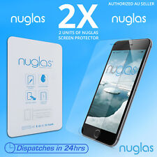 2x NUGLAS for Apple iphone 7 Plus Tempered Glass Screen Protector Genuine Lot