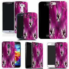 gel case cover for many mobiles  - whispy butterflies silicone