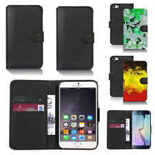 pu leather wallet case cover for many mobiles design ref q153