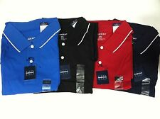 New Harbor Bay Mens Jersey Polo Dress Casual Shirts Stripe 2XL-4XLT