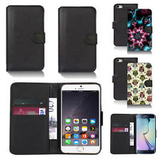 pu leather wallet case cover for many mobiles design ref q81