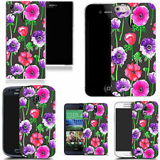 gel case cover for many mobiles  -  populous poppy silicone