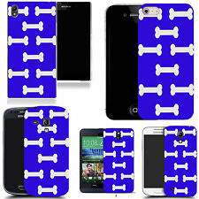 gel case cover for many mobiles - blue bones silicone