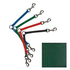 Two Way Dog Leash Coupler Nylon in Green by Guardian Gear