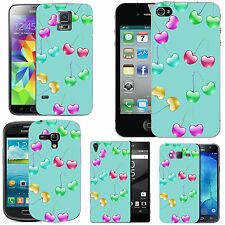 gel case cover for many mobiles - azure multi coloured cherries silicone