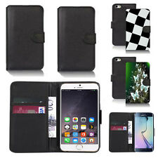 pu leather wallet case cover for many mobiles design ref q265