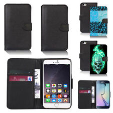 pu leather wallet case cover for many mobiles design ref q29
