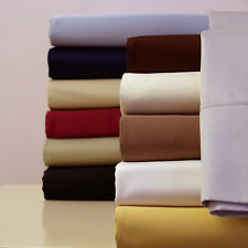 Twin XL size 300 Thread Count Solid Sheet Set 100% Combed Cotton Bed Sheet set
