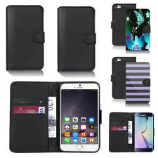 pu leather wallet case cover for apple iphone models design ref q05