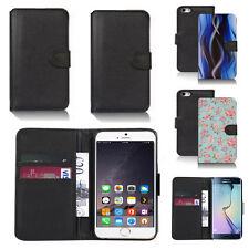 pu leather wallet case cover for apple iphone models design ref q09