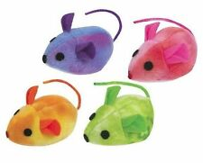 ZANIES TIE DYE 5 INCH MICE CAT TOYS FILLED WITH HONEYSUCKLE 1 TO 4 PIECES