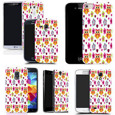 art case cover for various Mobile phones  -  floral owls silicone