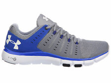 NEW MENS UNDER ARMOUR MICRO G LIMITLESS TR 2 CROSS TRAINING SHOES STEEL / TEAM