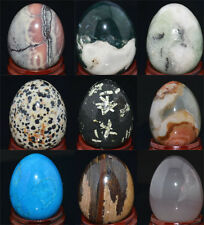 35x45mm Mix Natural Gemstone Sphere Crystal EGG Wholesale Lot
