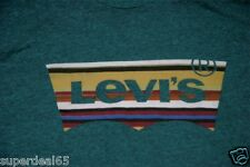 Levi's T Shirt Levis Strauss & Co Batwing Levis Turquoise Earth Lines