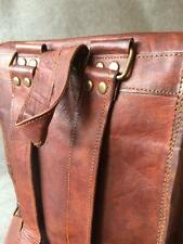 "Handmade Goat Leather 11"" Backpack BST/R Satchel iPad Tablet Billy Goat Designs"