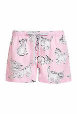 PETER ALEXANDER PJS Womens Kitty Cat Drawstring Shorts Size XL/16 Cotton BNWT PJ