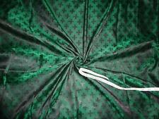 "viscose Silk Brocade Vestment Fabric Green & Black color 44"" BRO351[6]"