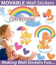 Care Bears Moveable Wall Sticker Decal Easy Remove / Reuse Bedroom Nursery Decor