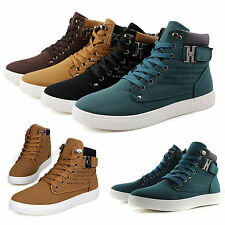 Men Fashion Canvas High Top Ankle Boots Trainers Pumps Shoes Sports Sneakers New