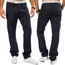 Men's Jeans Shiny FRIDAY Coated denim blue trousers trousers Chino Straight Leg
