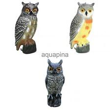 Electric Owl Decoy Deter Pest Control Garden Scarer Scarecrow with Rotating Head