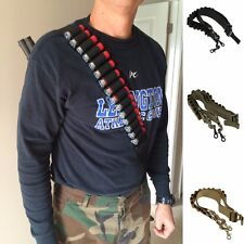 Tactical Heavy Duty Shotgun Shell Sling 15 Shell 12Ga.Ammo Holder Bandolier Belt